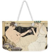 We Gorged With Grapes And Figs Least Weekender Tote Bag by Joseph Kuhn-Regnier