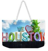 We Love Houston Texas Weekender Tote Bag