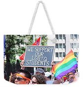 We Support Our Lgbtq Students Weekender Tote Bag