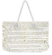 We The People Constitution Page 1 Weekender Tote Bag