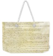 We The People Constitution Page 2 Weekender Tote Bag