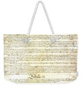 We The People Constitution Page 3 Weekender Tote Bag