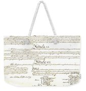 We The People Constitution Page 4 Weekender Tote Bag