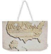 We The People - Us Constitution Map Weekender Tote Bag