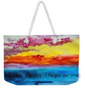 We Were Together I Forget The Rest - Quote By Walt Whitman Weekender Tote Bag
