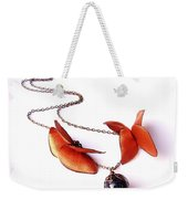 Wearable Art . Never Ending Love . One Of A Kind Necklace Weekender Tote Bag