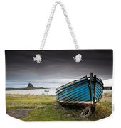 Weathered Boat On The Shore Weekender Tote Bag