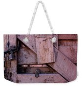 Weathered Gate With Lock And Chain Weekender Tote Bag