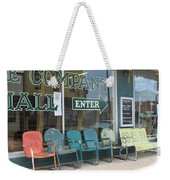 Weathered Old Lawn Chairs Weekender Tote Bag