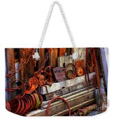 Weathered Rims And Chains Weekender Tote Bag