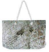 Weathered Wood Weekender Tote Bag