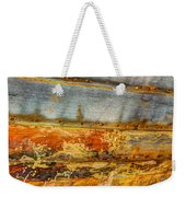 Weathered Wooden Boat - Abstract Weekender Tote Bag