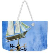 Weathervane Clipper Ship Weekender Tote Bag by Carol Leigh