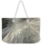 Weaving White And Gray Weekender Tote Bag