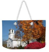 Webster Church On A Fall Day Weekender Tote Bag