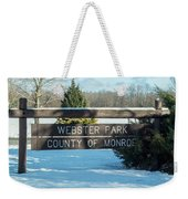 Webster Park Sign Weekender Tote Bag