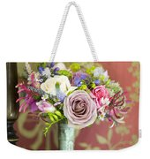 Wedding Bouquet And Vintage Wallpaper Weekender Tote Bag