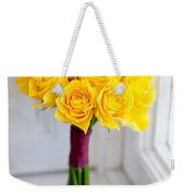 Wedding Bouquet Of Yellow Roses Weekender Tote Bag