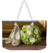 Wedding Shoes And Flowers Bouquet Weekender Tote Bag