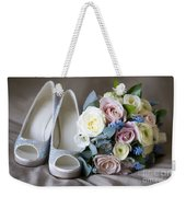Wedding Shoes And Flowers Weekender Tote Bag