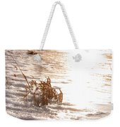 Weeds On Ice Weekender Tote Bag