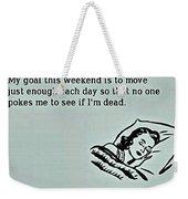 Weekend Goal Weekender Tote Bag
