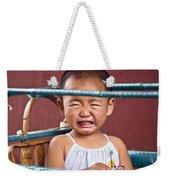 Weeping Baby In His Buggy Weekender Tote Bag