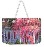 Weeping Cherry By The Veranda Weekender Tote Bag
