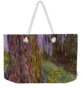 Weeping Willow And The Waterlily Pond Weekender Tote Bag