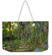 Weeping Willows The Waterlily Pond At Giverny Weekender Tote Bag by Claude Monet