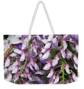 Weeping Wisteria - Spring Snow - Ice - Lavender - Flora Weekender Tote Bag