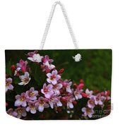 Weigela Branch Weekender Tote Bag