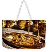 Weighing Gold Weekender Tote Bag