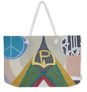 Weighing Peace Weekender Tote Bag