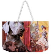 Weimaraner Art Canvas Print - Der Blaue Engel Movie Poster Weekender Tote Bag