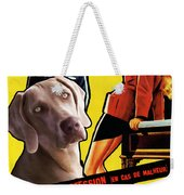 Weimaraner Art Canvas Print - Love Is My Profession Movie Poster Weekender Tote Bag
