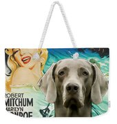 Weimaraner Art Canvas Print - River Of No Return Movie Poster Weekender Tote Bag