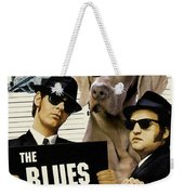 Weimaraner Art Canvas Print - The Blues Brothers Movie Poster Weekender Tote Bag