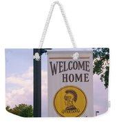 Welcome Home Banner Weekender Tote Bag