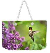 Welcome Home Hummingbird Weekender Tote Bag