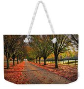 Welcome Home Bradford Pear Lined Drive-way Weekender Tote Bag