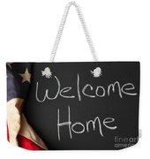 Welcome Home Sign On Chalkbaord Weekender Tote Bag