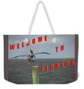 Welcome To Florida Weekender Tote Bag