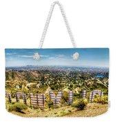 Welcome To Hollywood Weekender Tote Bag by Natasha Bishop