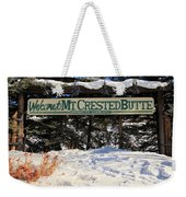Welcome To Mt Crested Butte Weekender Tote Bag