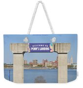 Welcome To Penn's Landing Weekender Tote Bag
