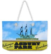 Welcome To The Asbury Park Boardwalk Weekender Tote Bag