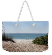 Welcome To The Beach Weekender Tote Bag by Carol Groenen