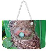 Welcome To The World - Hatching Baby Robin Weekender Tote Bag
