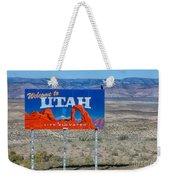 Welcome To Utah Weekender Tote Bag